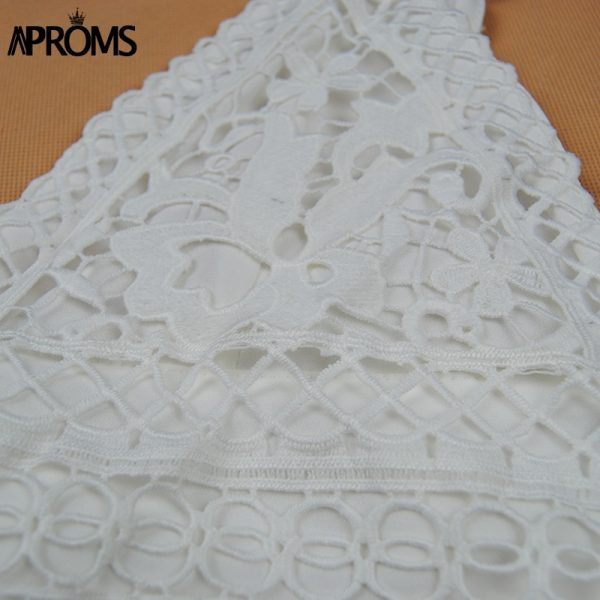 65865 lbzgdt 600x600 - Aproms White Lace Crochet Camisole Cami Women Summer Backless Bow Tie Up Tank Tops Female Streetwear Fashion 2020 Pink Crop Top