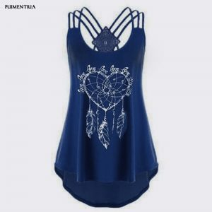 65982 rug5ka 300x300 - Puimentiua  Women Vest Printed Sleeveless Tops Fashion Female Summer Casual Simple O Neck Loose Sling Tank Streetwear Camis