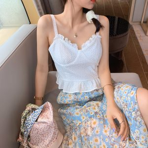 66569 vhhuef 300x300 - MISHOW 2020 Summer Sexy Ruffles Camis Sleeveless Tank Tops Women Solid Sexy Fashion Camisole MX20B4666