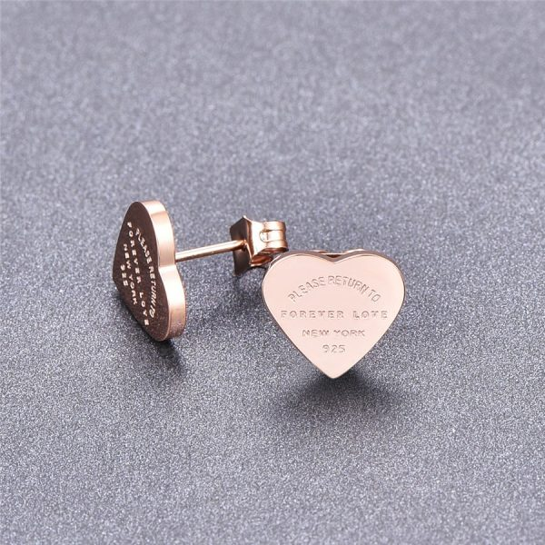 66817 c1ylcg 600x600 - Martick Gold- color Heart Earrings For Women Rose Gold-color Heart Stud Earrings With English Letters Fine Jewelry Gift E161