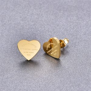 66817 ri8nxb 300x300 - Martick Gold- color Heart Earrings For Women Rose Gold-color Heart Stud Earrings With English Letters Fine Jewelry Gift E161