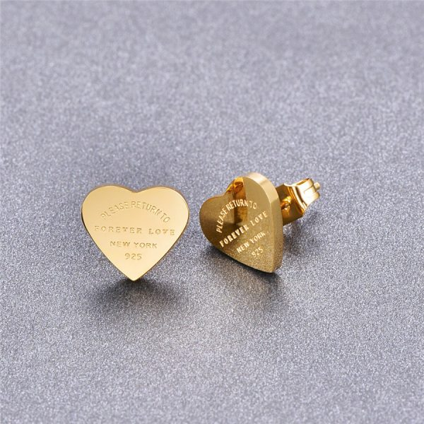 66817 ri8nxb 600x600 - Martick Gold- color Heart Earrings For Women Rose Gold-color Heart Stud Earrings With English Letters Fine Jewelry Gift E161