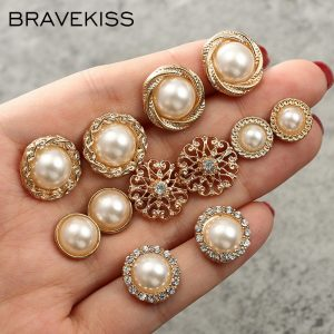 66826 8exgtt 300x300 - BRAVEKISS Pearl Earring Set Retro 6 Pairs Pearl Flower Stud Earrings Fashion Jewelry for Women Gifts Daily/Shopping New BPE1343