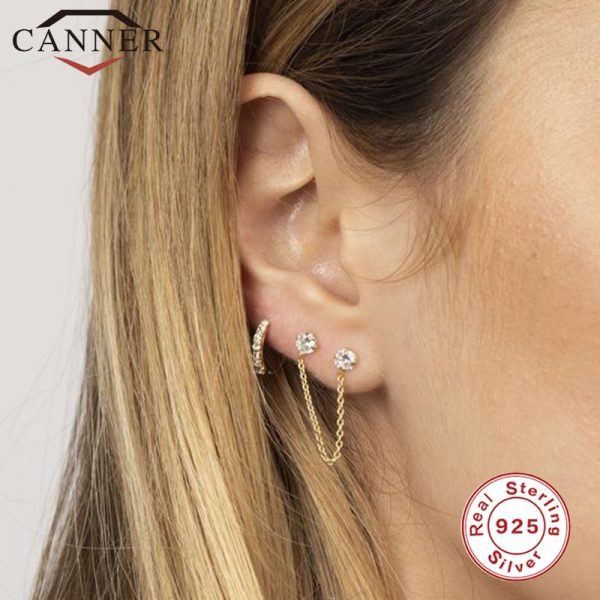66847 0ufgub 600x600 - 1 pair of 925 Sterling Silver Snowflake Ear Cuff Without Piercing Clip Earrings for Women Crystal Zircon Clip on Earrings