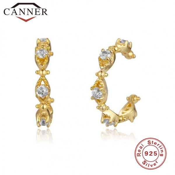 66847 nxnzrc 600x600 - 1 pair of 925 Sterling Silver Snowflake Ear Cuff Without Piercing Clip Earrings for Women Crystal Zircon Clip on Earrings