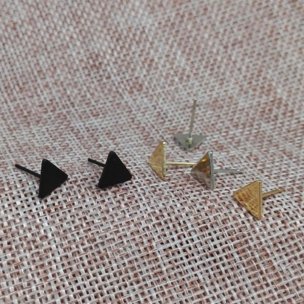 66887 lz4xf3 600x600 - 2020 New Fashion Gothic Triangle Earrings Unisex Punk Rock  Men Women Ear Stud Earrings Pierced Push-Back Ear Plug Jewelry
