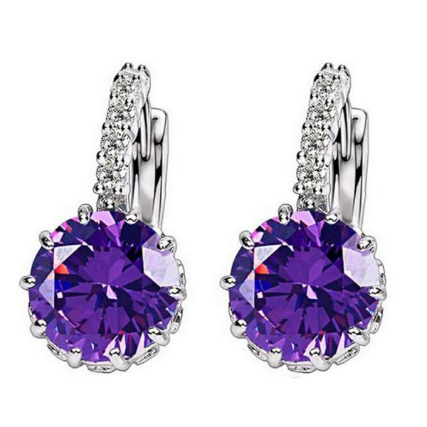 67018 nljcs3 600x600 - 1pcs Sell Blue Luxury Ear Drop Dangle Earrings For Women Round With Cubic Zircon Flower Earrings Women Jewelry