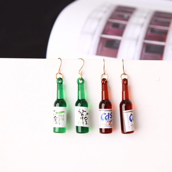 67027 5lwdzf 600x600 - New Earrings Personality Simple Fashion Beer Bottle Creative Earrings Design  Earrings For Women Jewelry Wholesale
