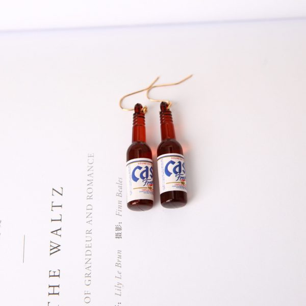 67027 62jw6x 600x601 - New Earrings Personality Simple Fashion Beer Bottle Creative Earrings Design  Earrings For Women Jewelry Wholesale