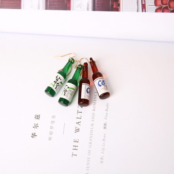 67027 bmslhz 600x600 - New Earrings Personality Simple Fashion Beer Bottle Creative Earrings Design  Earrings For Women Jewelry Wholesale