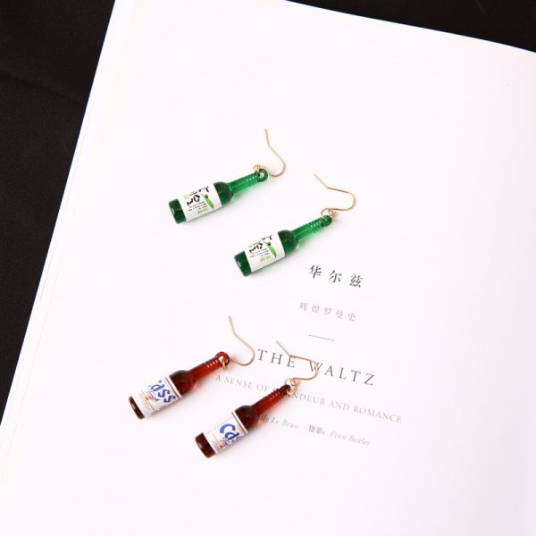 67027 cwqdwh 600x600 - New Earrings Personality Simple Fashion Beer Bottle Creative Earrings Design  Earrings For Women Jewelry Wholesale
