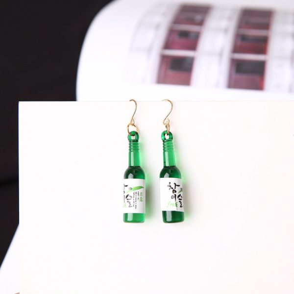 67027 lsuudh 600x600 - New Earrings Personality Simple Fashion Beer Bottle Creative Earrings Design  Earrings For Women Jewelry Wholesale