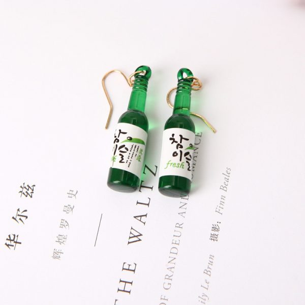 67027 p1frps 600x600 - New Earrings Personality Simple Fashion Beer Bottle Creative Earrings Design  Earrings For Women Jewelry Wholesale