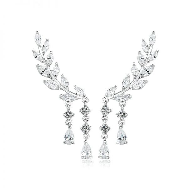 67133 plz8ap 600x600 - Trendy Angel Wings Crystal Drop Earrings For Women Long Pendant Dangle Earrings For Girls Jewelry Gift Party