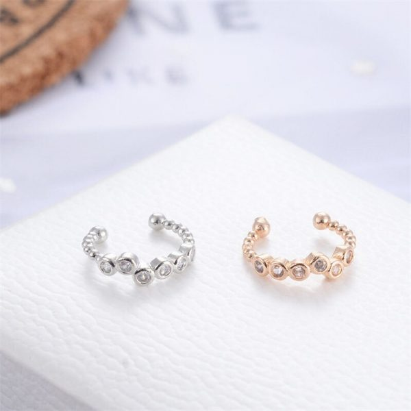 67347 3xsrsa 600x600 - Modyle 1 pcs Vintage Crown Flower Leaf Ear Cuff Non Pierced Clip Earrings for Women Trendy Punk Small Carved Hollow Crystal