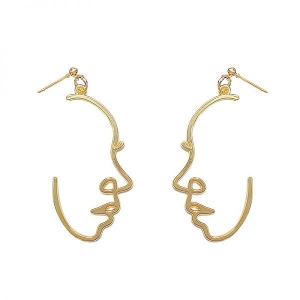 67467 uc69ys 600x600 - Punk Human Face Drop Earrings For Women Retro Abstract Hollow out Statement Hand Metal Fashion Dangle Earring Jewelry