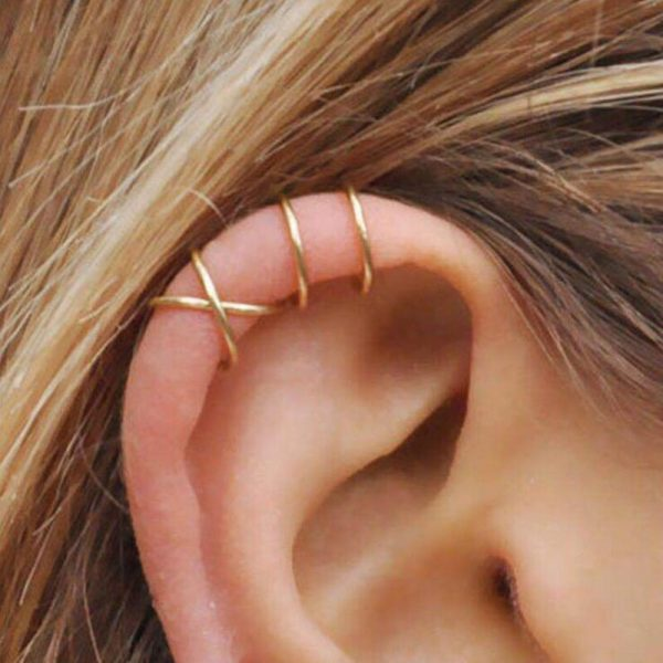 67640 bv4eus 600x600 - Modyle 5pcs/set 2020 Fashion Gold Color Ear Cuffs Leaf Clip Earrings for Women Climbers No Piercing Fake Cartilage Earring