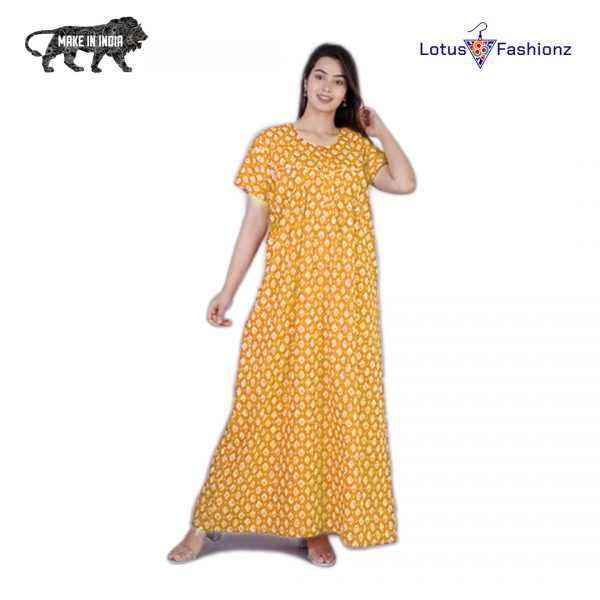 yellow nighty indian