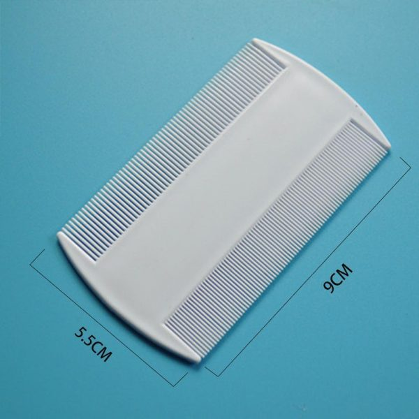Double Sided Nit Fine Tooth Head Lice Hair Combs for Kids Pet dog Flea Plastic Hair 600x600 - Lotus Lice Comb - Pack of 2