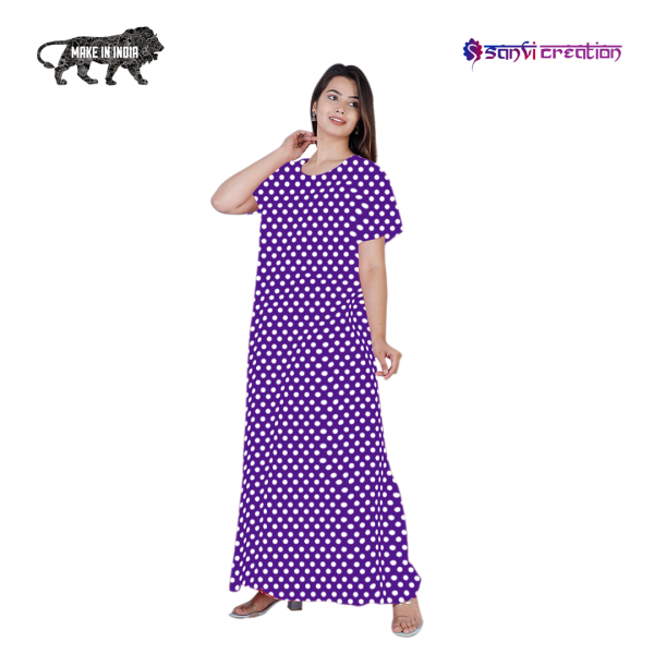 purple cotton nighty